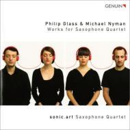 グラス:弦楽四重奏曲第3番(サックス四重奏版)、サックス四重奏曲、ナイマン:トニーへの歌 ソニック・アート・サクソフォン四重奏団