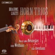 ブラームス:ホルン三重奏曲、リゲティ:ホルン三重奏曲、アホ:ソロX ノイネッカー、ヴァイトハース、アヴェンハウス