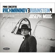 ラフマニノフ:ピアノ協奏曲第3番、ルビンシテイン:ピアノ協奏曲第4番 モーク、ミルトン&ラインラント=プファルツ州立フィル