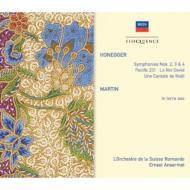 オネゲル:交響曲第2番、第3番、第4番、『パシフィック231』、『ダヴィデ王』、マルタン:『地に平和あれ』、他 アンセルメ&スイス・ロマンド管(3CD)