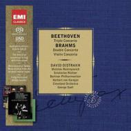 ベートーヴェン:三重協奏曲、ブラームス:二重協奏曲、ヴァイオリン協奏曲 オイストラフ、ロストロポーヴィチ、リヒテル、カラヤン、セル(2SACD限定盤)