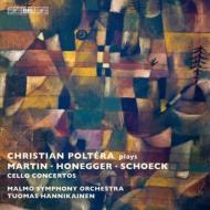 『スイスのチェロ協奏曲集〜マルタン、オネゲル、シェック』 ポルテラ、オッリラ=ハンニカイネン&マルメ響