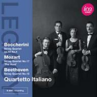 ベートーヴェン:弦楽四重奏曲第15番、モーツァルト:『狩り』、ボッケリーニ:『ティラーナ』 イタリア四重奏団(1965ステレオ)