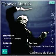 ベルリオーズ:幻想交響曲、ドビュッシー:『海』、ストラヴィンスキー:レクィエム・カンティクルス ミュンシュ&パリ管弦楽団(1967 ステレオ)(2CD)