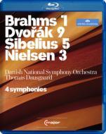 4 Symphonies -Brahms No.1, Dvorak No.9, Sibelius No.5, Nielsen No.3 : Dausgaard / Danish National Symphony Orchestra