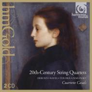 20世紀弦楽四重奏作品集〜ラヴェル、ドビュッシー、ツェムリンスキー、トゥリーナ、トルドラ カザルス四重奏団(2CD)