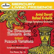 バルトーク (1881-1945)/Miraculous Mandarin: Dorati / Cso +hindemith Schoenberg: Kubelik /
