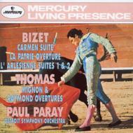 ビゼー:『カルメン』組曲、『アルルの女』組曲、『祖国』、トマ:『ミニョン』序曲、『レーモン』序曲 ポール・パレー&デトロイト交響楽団