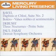 ラヴェル:ボレロ、『ダフニスとクロエ』第2組曲、高雅にして感傷的なワルツ、ドビュッシー:夜想曲、小組曲 ポール・パレー&デトロイト交響楽団