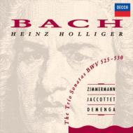 バッハ(1685-1750)/Trio Sonatas: Holliger(Ob) F.p.zimmermann(Vn) Jaccottet(Cemb)