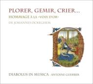 Plorer, Gemir, Crier〜合唱作品集〜ピエール・ド・ラ=リュー、オブレヒト、ルピ、他 ディアボルス・イン・ムジカ