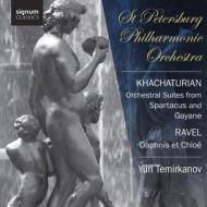 ハチャトゥリアン:組曲『ガイーヌ』より、組曲『スパルタクス』より、ラヴェル:『ダフニスとクロエ』第2組曲 テミルカーノフ&サンクト・ペテルブルク・フィル