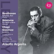 ベートーヴェン:交響曲第3番『英雄』、スメタナ:『売られた花嫁』序曲 アルヘンタ&スペイン国立管、スイス・ロマンド管
