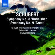 交響曲第8番『未完成』、第9番『グレート』 ハラース&スロヴァキア・フィル、ファイローニ室内管