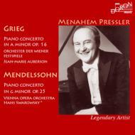 グリーグ:ピアノ協奏曲、メンデルスゾーン:ピアノ協奏曲第1番 プレスラー、スワロフスキー&ウィーン国立歌劇場管