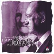 交響曲第3番、第4番、第7番、第8番 アーノンクール&コンセルトヘボウ管、ウィーン・フィル、ベルリン・フィル(4CD)