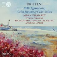 チェロ交響曲、チェロ・ソナタ、無伴奏チェロ組曲全曲、テーマ『ザッヒャー』 A.ゲルハルト、マンゼ&BBCスコティッシュ響、オズボーン(2CD)