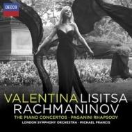 ピアノ協奏曲全集、パガニーニ狂詩曲 リシッツァ、M.フランシス&ロンドン響(2CD)
