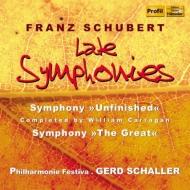 交響曲第8番『未完成』(キャラガン校訂4楽章版)、第9番『グレート』 シャラー&フィルハーモニー・フェスティヴァ(2CD)