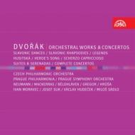 管弦楽曲集、協奏曲集 ノイマン&チェコ・フィル、フルシャ&プラハ・フィルハーモニア、スーク、サードロ、モラヴェツ、他(8CD)