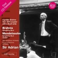 ブラームス:交響曲第4番(1975)、メンデルスゾーン:『イタリア』(1972) ボールト&BBC響、ロイヤル・フィル