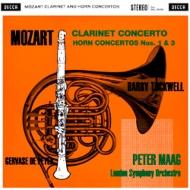 クラリネット協奏曲、ホルン協奏曲第1、3番:ドゥ・ペイエ(クラ)、タックウェル(ホルン)、マーク指揮&ロンドン交響楽団 (180グラム重量盤レコード/Speakers Corner)