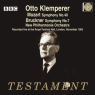 ブルックナー: 交響曲第7番、モーツァルト: 交響曲第40番 クレンペラー&ニュー・フィルハーモニア管(1965)(2CD)