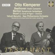 ベルリオーズ:幻想交響曲、ベートーヴェン:ヴァイオリン協奏曲、他 クレンペラー&ニュー・フィルハーモニア管、メニューイン(1966)(2CD)