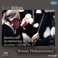 Symphonies Nos.5, 6, Leonore Overture No.3 : Bohm / Vienna Philharmonic (1977 Tokyo)(Single Layer)