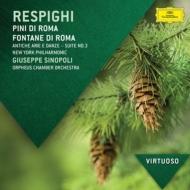 ローマの松、ローマの噴水(シノーポリ&ニューヨーク・フィル)、古風な舞曲とアリア第3組曲、『鳥』(オルフェウス室内管)