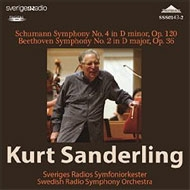 シューマン、ロベルト(1810-1856)/Sym 4 : K.sanderling / Swedish Rso +beethoven: Sym 2