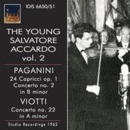 パガニーニ:24のカプリース、ヴァイオリン協奏曲第2番、ヴィオッティ:ヴァイオリン協奏曲第22番 アッカルド(1962)(2CD)