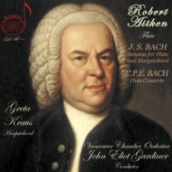 バッハ:フルート・ソナタ集、C.P.E.バッハ:フルート協奏曲 エイトケン、G.クラウス、ガーディナー&バンクーバー室内管