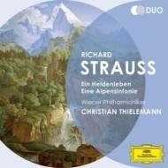英雄の生涯、アルプス交響曲、交響的幻想曲『影のない女』、『ばらの騎士』組曲 ティーレマン&ウィーン・フィル(2CD)