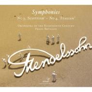 交響曲第4番『イタリア』、第3番『スコットランド』 ブリュッヘン&18世紀オーケストラ(2009、2012)
