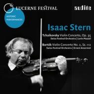チャイコフスキー:ヴァイオリン協奏曲(マゼール指揮、1958)、バルトーク:ヴァイオリン協奏曲第2番(アンセルメ指揮、1956) スターン、ルツェルン祝祭管