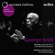 ブラームス:交響曲第1番(1962年)、ドヴォルザーク:交響曲第8番(1969年) ジョージ・セル&ルツェルン祝祭管弦楽団