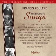 プーランク(1899-1963)/Comp. melodies-songs: F.lott Adamczak Tibbels Mcgreevy Bickley Maltman G.johnson(P)