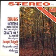 ホルン三重奏曲、ヴァイオリンソナタ第2番:バロウズ(ホルン)、シゲティ(ヴァイオリン)、ホルショフスキ(ピアノ)(180グラム重量盤レコード/Speakers Corner/*CL)