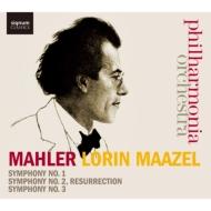 交響曲第1番『巨人』、第2番『復活』、第3番 ロリン・マゼール&フィルハーモニア管弦楽団(5CD)