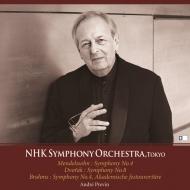 Mendelsson Symphony No.4, Dvorak Symphony No.8, Brahms Symphony No.4, Academic Fest Overture : Previn / NHK Symphony Orchestra (1995)(2CD)