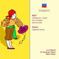 ビゼー:『アルルの女』組曲、子供の遊び(マゼール&クリーヴランド管)、『カルメン』組曲(ギブソン指揮)、デュカス:魔法使いの弟子(ヴェラー指揮)