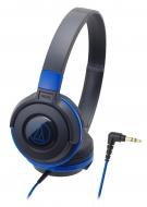 オーディオテクニカ ポータブルヘッドホン ATH-S100 BBL (ブラックブルー)