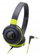 オーディオテクニカ ポータブルヘッドホン ATH-S100 BGR (ブラックグリーン)