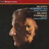 交響曲第3番、ハイドンの主題による変奏曲:ジョン・バルビローリ指揮&ウィーン・フィルハーモニー管弦楽団 (180グラム重量盤レコード/Hi-Q Records Supercuts)