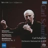 ベートーヴェン:『英雄』、メンデルスゾーン:ヴァイオリン協奏曲、他 シューリヒト&フランス国立放送管、グリュミオー(1963 ステレオ)(シングルレイヤー)