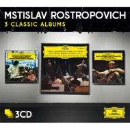 ロストロポーヴィチ〜3 Classic Albums(ドヴォルザーク、ボッケリーニ、ショスタコーヴィチ)(3CD)