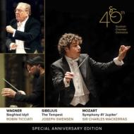 モーツァルト:ジュピター(マッケラス)、ワーグナー:ジークフリート牧歌(ティチアーティ)、シベリウス:テンペスト第2組曲(スヴェンセン) スコットランド室内管