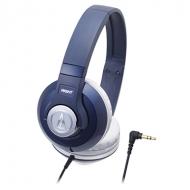 オーディオテクニカ:ポータブルヘッドホンATH-S500 NV(ネイビー)