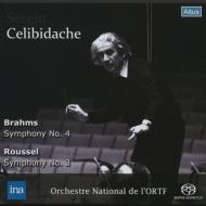 ブラームス:交響曲第4番、ルーセル:交響曲第3番 チェリビダッケ&フランス国立放送管弦楽団(1974 ステレオ)(SACDシングルレイヤー)